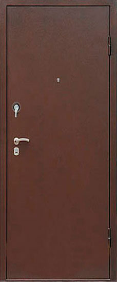 дверь коричневая железная